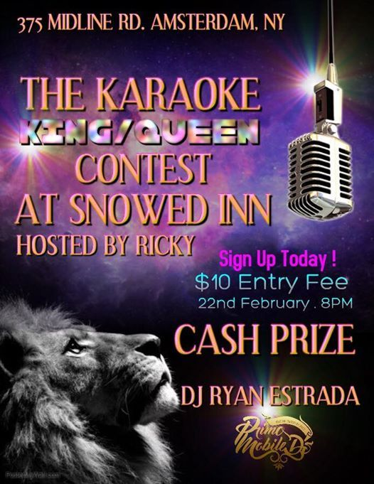 Karaoke Contest at Snowed Inn hosted by Ricky