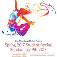 Spring 2017 Student Dance Recital