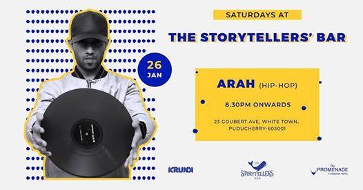 Saturdays ft DJ Arah at The Storytellers Bar Pondicherry