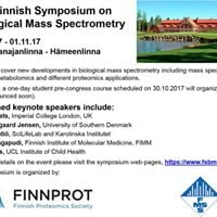 2nd Finnish Symposium on Biological Mass Spectrometry  Course