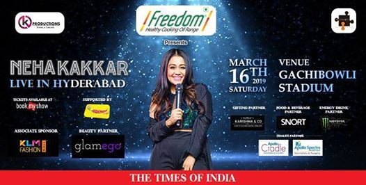 Neha Kakkar Live In Concert  Hyderabad