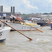Thames Barge Driving Race 2018 - onboard the Viscount