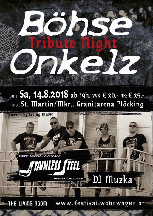 Böhse Onkelz Tribute Night 2018 At Erlebniswelt Granit Plöcking