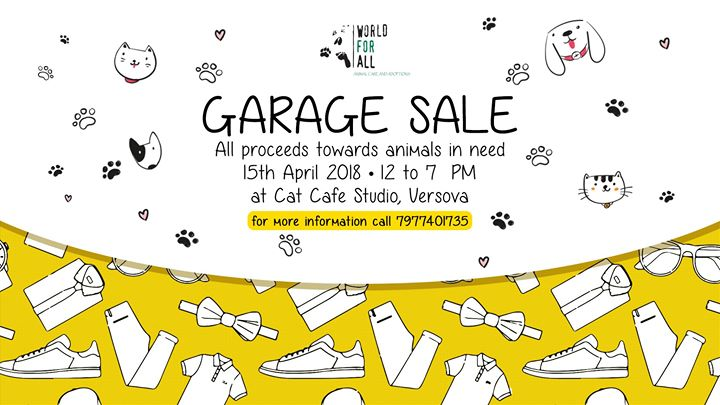 Garage Sale at Cat Caf Studio