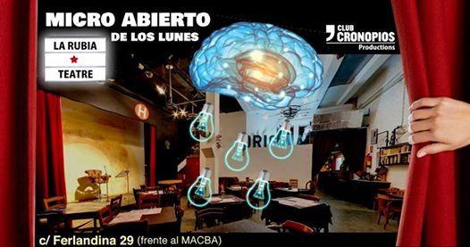 Micro Abierto de los lunes en La Rubia - Teatre