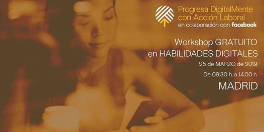 Progresa DigitalMente Accin Laboral & Facebook - Madrid