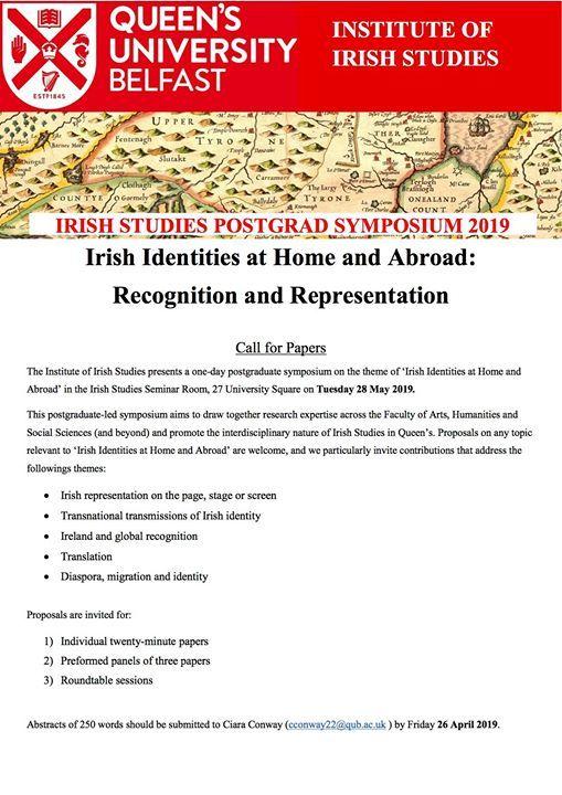 Inst of Irish Studies Postgraduate Symposium 2019 at 27