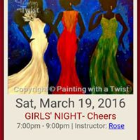Ladies paint night hosted by waketa at painting with a for Painting with a twist greenville sc