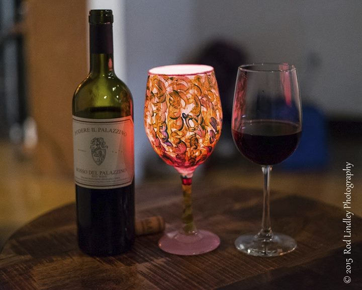 wine glass painting class at the art of wine dallas
