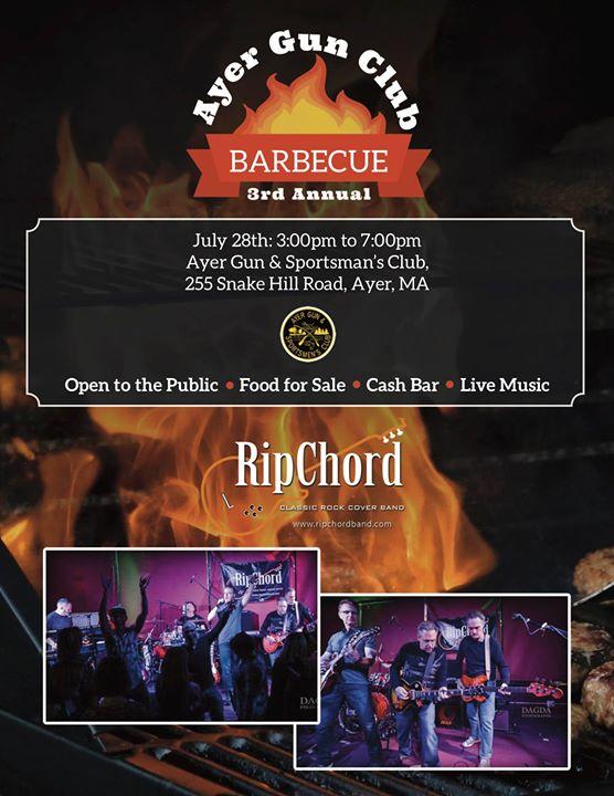 Ripchord To Headline Ayer Gun Club 3rd Annual Bbq At Ayer Gun