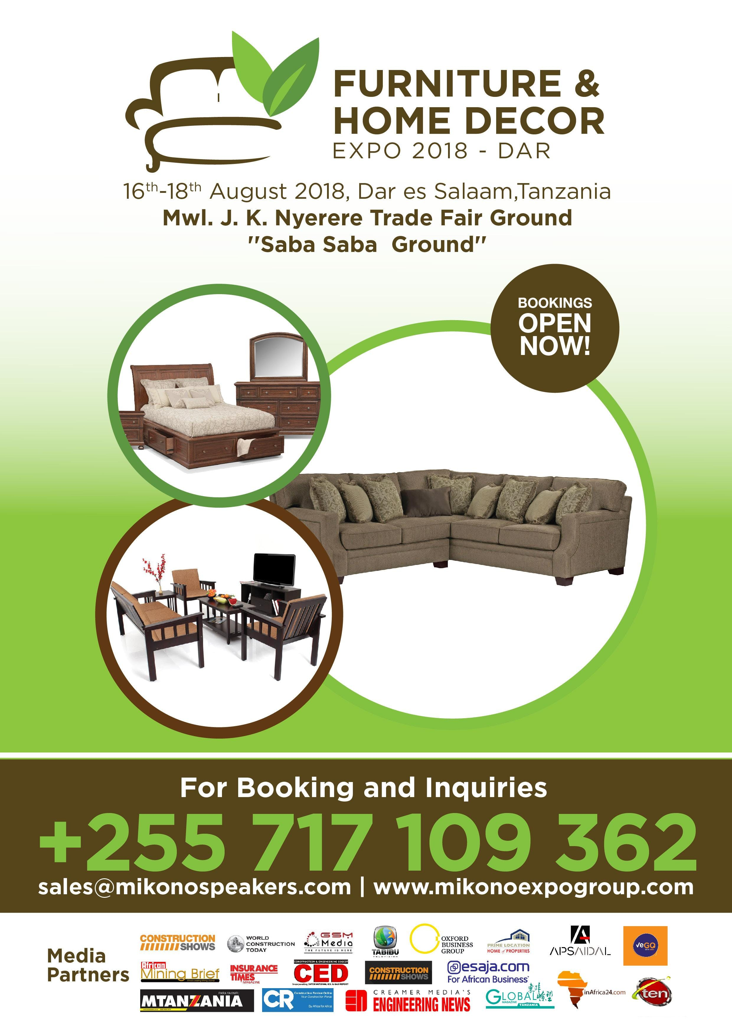 Furniture And Home Decor Expo 2018 At Mwl Nyerere Trade Fair Grounds