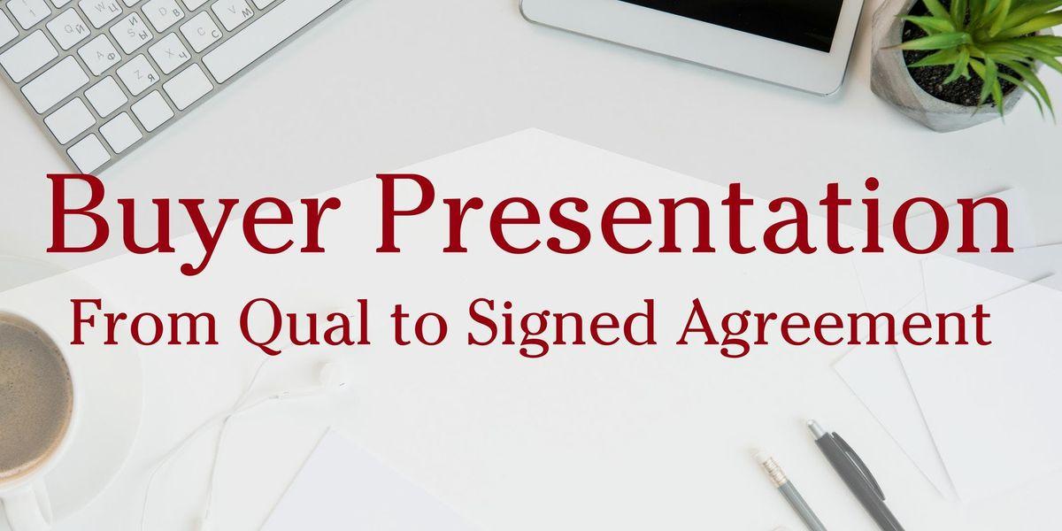 Buyer Presentation Workshop - Stafford