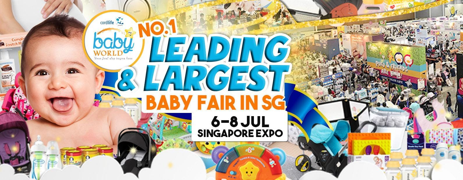 Baby Fair - Baby World 6 to 8 July 2018 at Singapore Expo Hall 5