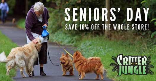 Seniors Day - 65 Save 10% Off the Whole Store