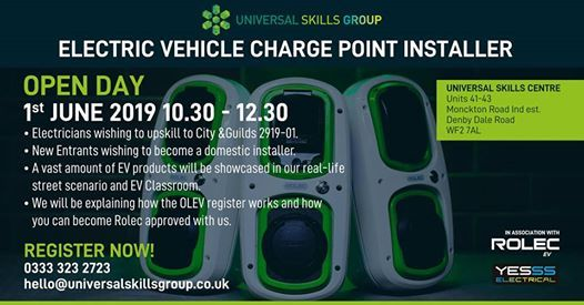 OPEN DAY  Electric Vehicle Charge Point Installer
