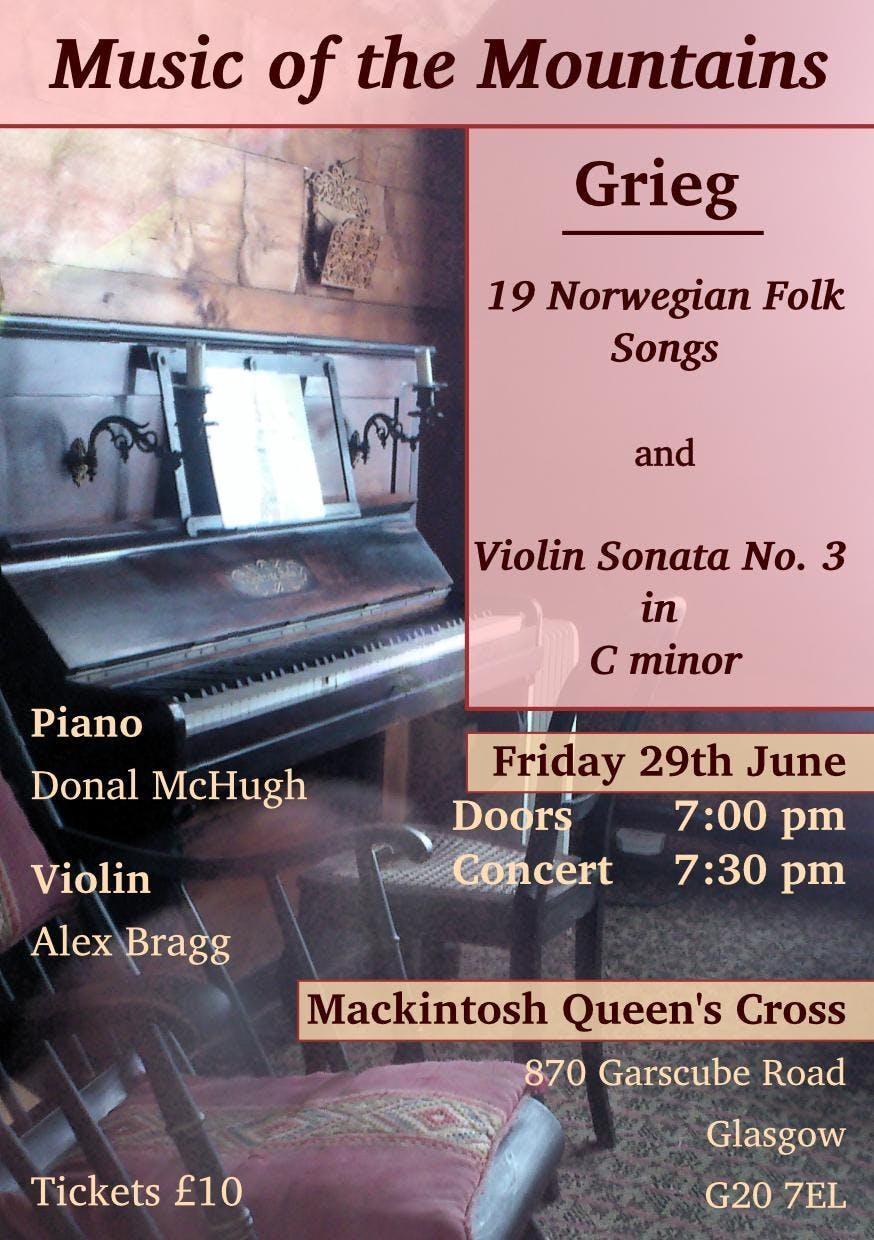 Music of the Mountains at Mackintosh Queen's Cross, Glasgow
