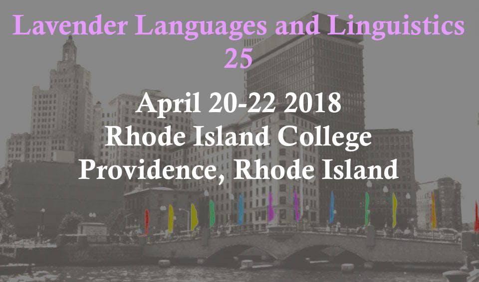 Lavender Languages and Linguistics 25