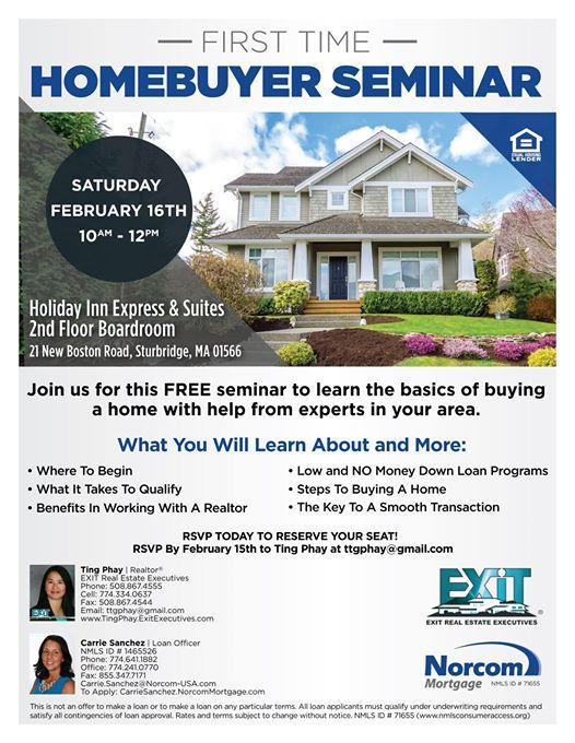 First Time Home Buyer Seminar at Norcom Mortgage