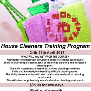 House Cleaners Training Program