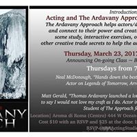 Introduction to Acting &amp The Ardavany Approach on Camera Mastery