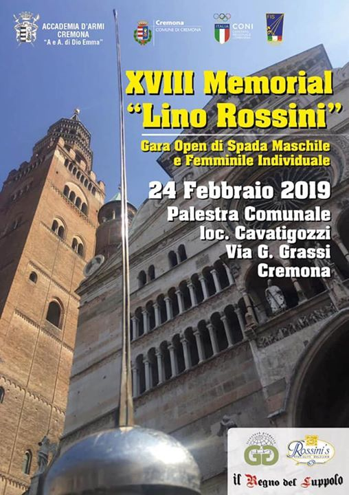 XVIII Memorial Lino Rossini open spada maschile e femminile