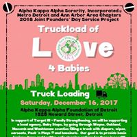 2018 Joint Founders Day Service Project-Truckload of Love 4 Babies