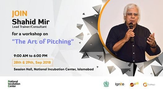 Art of Pitching Workshop with Shahid Mir