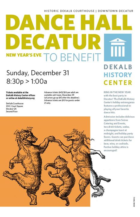 Dance Hall Decatur - New Years Eve at DeKalb History Center, Decatur