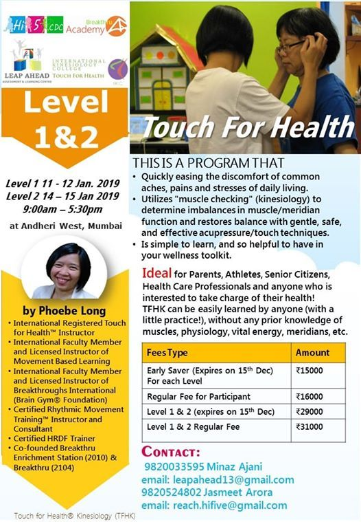Touch For Health Level 1 And 2
