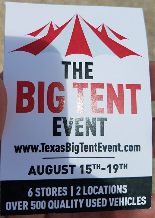 Big Tent Event