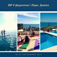 SUP&ampYogaretreat i Sitges Spanien