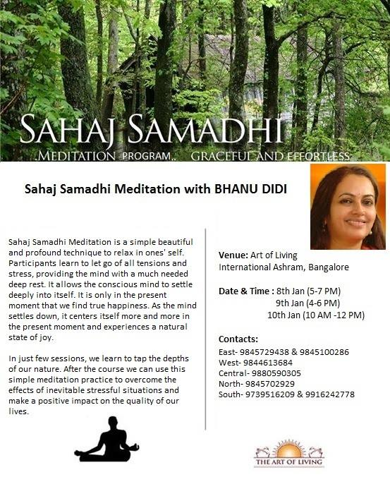 Sahaj Samadhi Meditation With Bhanu Ma At Art Of Living