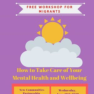 Free Workshop Taking Care of Your Mental Health and Wellbeing