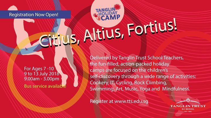 Tanglin Holiday Camp 5 Citius Altius Fortius