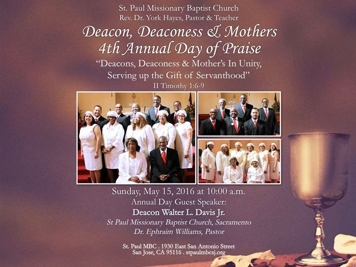 Deacons Deaconess Amp Mother S 4th Annual Day Of Praise At