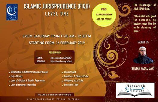 Fiqh Course - Level One - By Shaikh Fazal Bari at Islamic