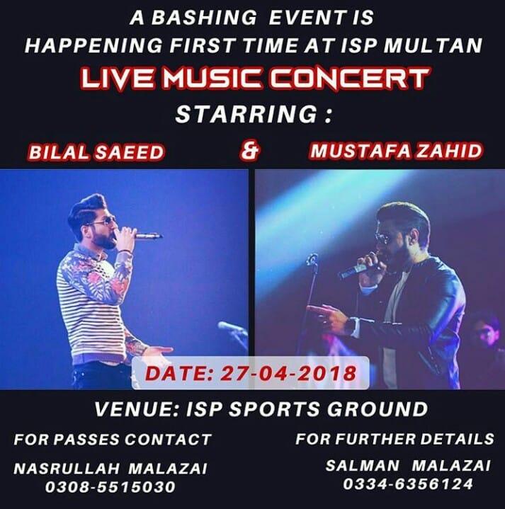 Concert at ISP Multan
