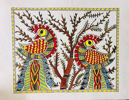 Madhubani Painting  Two-day Beginner weekday workshop