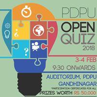 PDPU Open Quiz