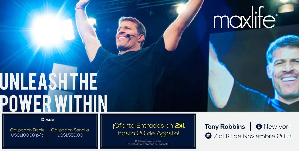 Maxlife Travels al evento de Tony Robbins en Nueva York