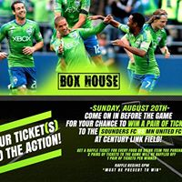 Sounders FC vs MN United FC Ticket Giveaway at Box House