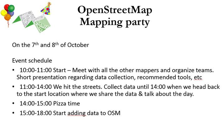 OpenStreetMap Mapping Party