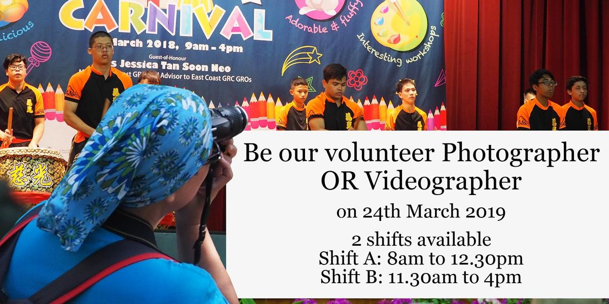 Be a volunteer Photographer at Metta Charity Carnival 2019