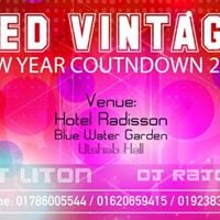 RED Vintage New Year Countdown 2018