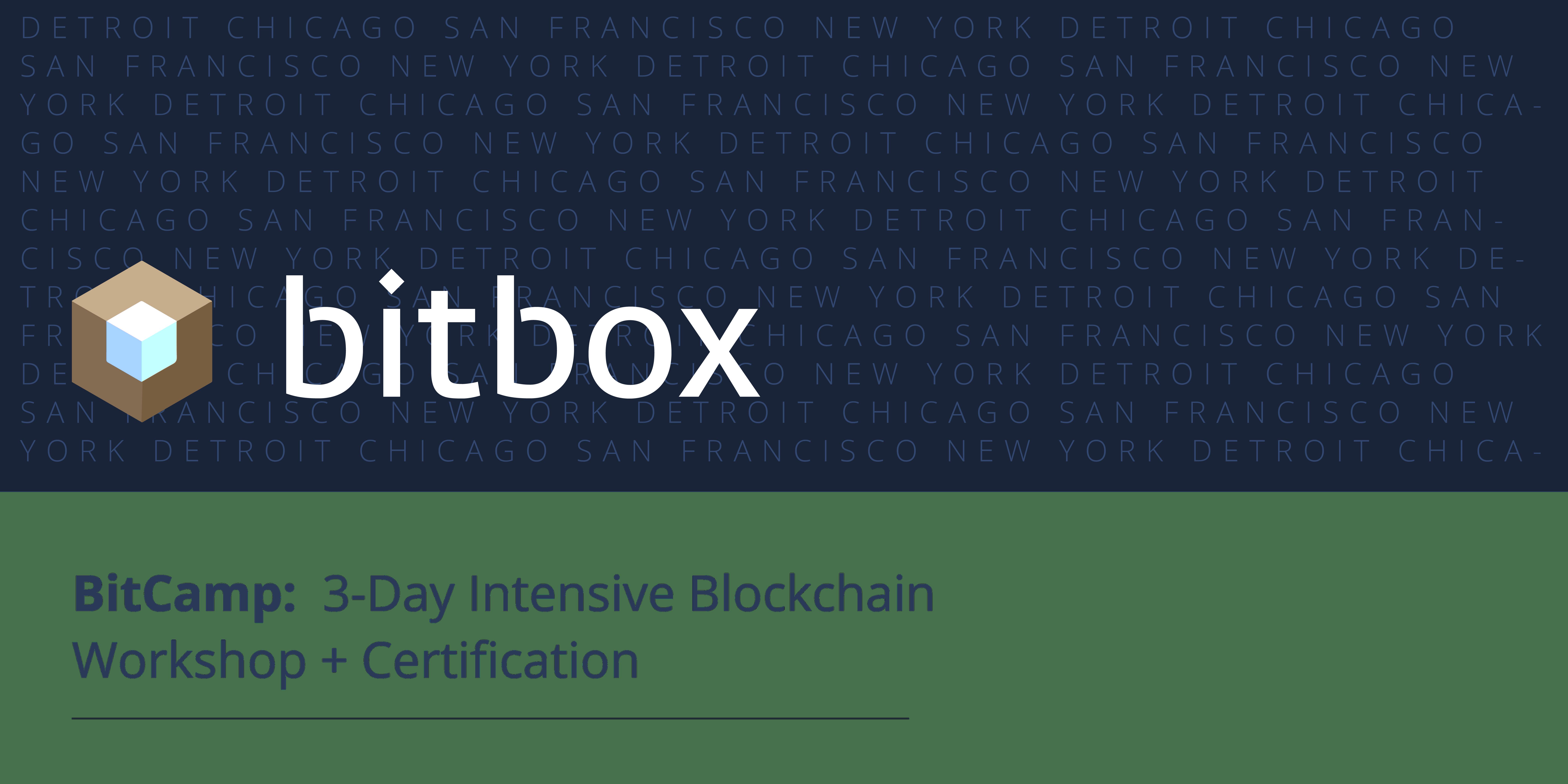 BitCamp Chicago 3-day intensive Blockchain Executive Workshop