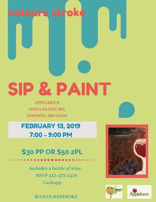 Applebee S Sip And Paint At Applebee S Grill Bar Towson