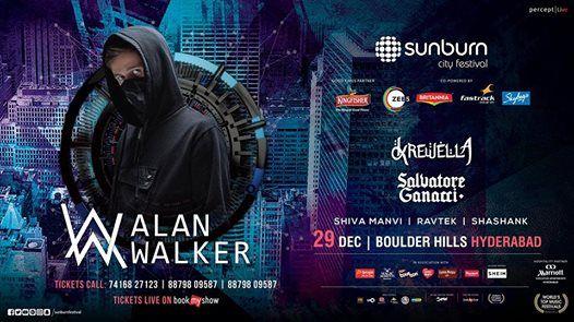 Sunburn City Festival with Alan Walker Krewella & Salvatore
