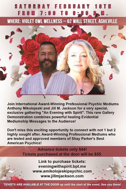 Evening with Spirit Jill M Jackson & Anthony Mikolojeski