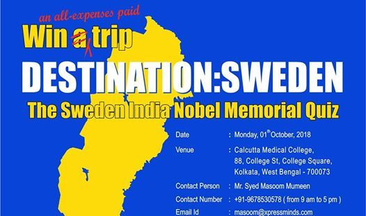 The Sweden India Nobel Memorial Quiz - Kolkata.