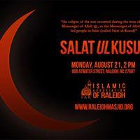 Salat ul-Kusuf (Prayer on a solar eclipse)